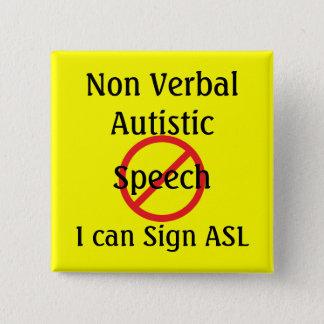Medical Alert Tools Non Verbal Autistic 15 Cm Square Badge