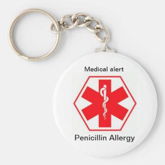 Medical allergy alert keychains (customizable)