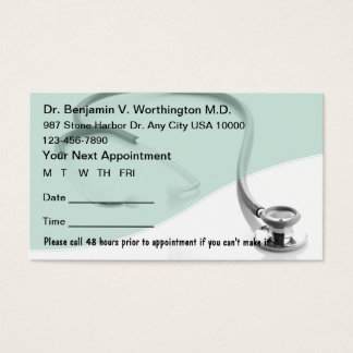 Medical Appointment Cards