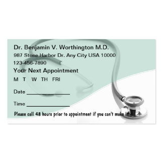 Medical Appointment Cards Business Card Template