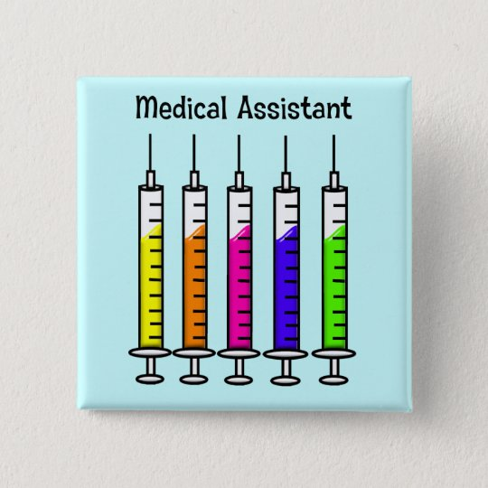 Medical Assistant Buttons Syringe Design
