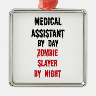 Medical Assistant Zombie Slayer Christmas Ornament