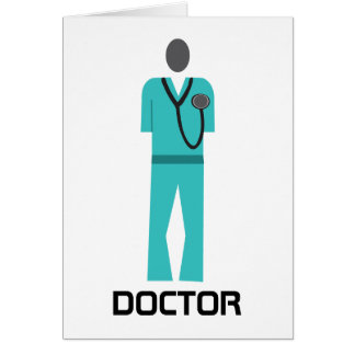 Medical Blue Scrub Greeting Card
