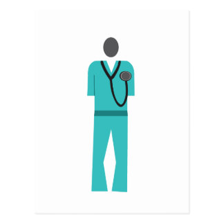 Medical Blue Scrub Postcard