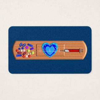 Medical Business Cards Big Bandaid Navy