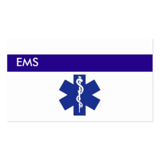 Medical Business Cards EMS