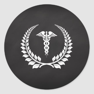 Medical Caduceus Laurel Stickers