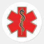 Medical Caduceus Round Stickers