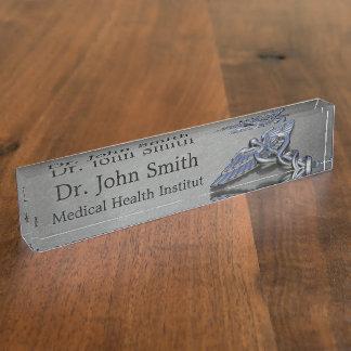 Medical Caduceus Symbol - Desk Nameplate