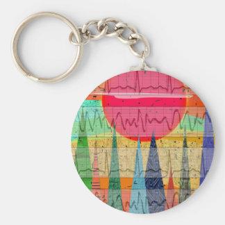 Medical Cardiac Rhythm Forest Dreams Key Chain