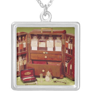 Medical chest by the Dinneford Family Chemist Silver Plated Necklace