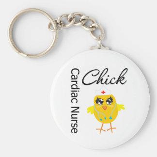 Medical Chick v1 Cardiac Nurse Key Chains