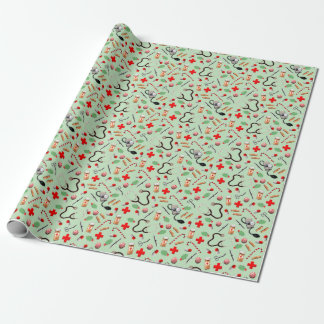 Medical Christmas Wrapping Paper