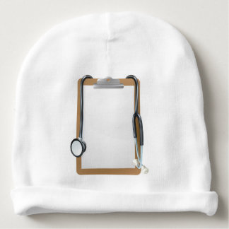 Medical Clipboard Background Baby Beanie