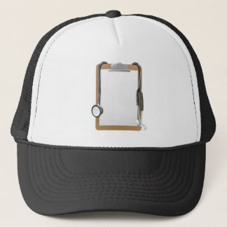 Medical Clipboard Background Trucker Hat