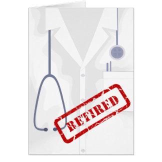 Medical Coat Jacket Retired Custom Card