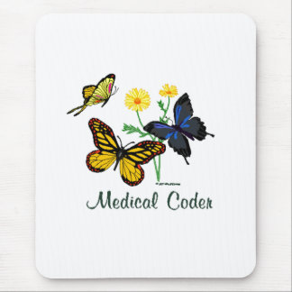 Medical Coder Butterflies Mouse Pad