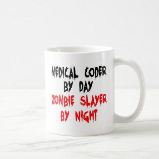 Medical Coder Zombie Slayer Basic White Mug