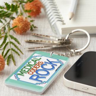 Medical Coders Rock Double-Sided Rectangular Acrylic Keychain