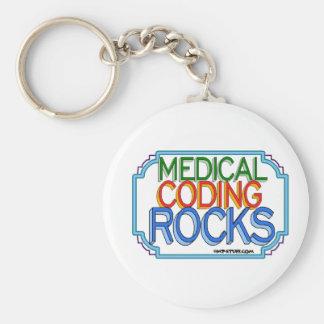 Medical Coding Rocks Key Ring