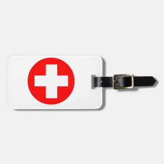 Medical Cross Luggage Tag
