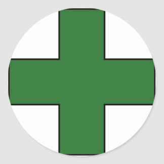 Medical Cross Medical Life Saving Guard Symbol Round Sticker