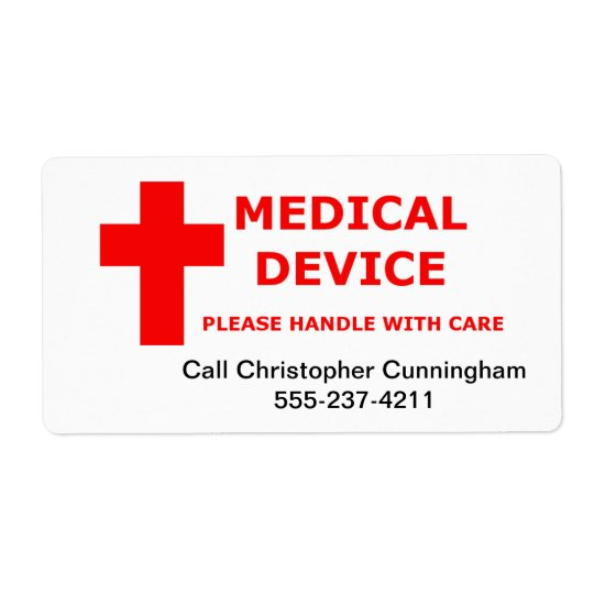 Medical Device Supplies Equipment Shipping Label
