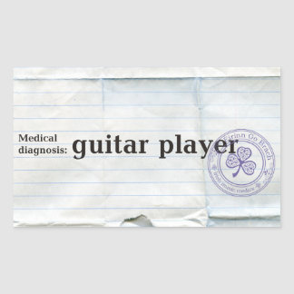 Medical diagnosis:guitar player stickers