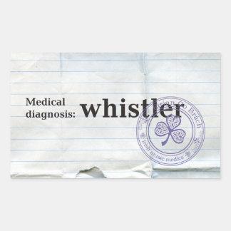 Medical diagnosis: Whistler Rectangular Sticker