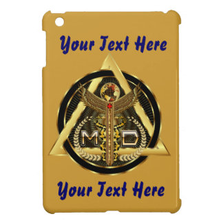Medical Doctor Logo Round Only VIEW ABOUT Design iPad Mini Cases