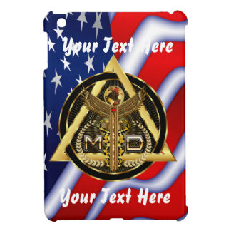 Medical Doctor Logo Round Only VIEW ABOUT Design iPad Mini Cover