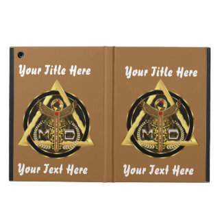 Medical Doctor Logo Universal VIEW ABOUT Design iPad Air Cases