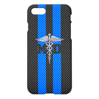 Medical Doctor MD Caduceus on Carbon Fiber iPhone 8/7 Case