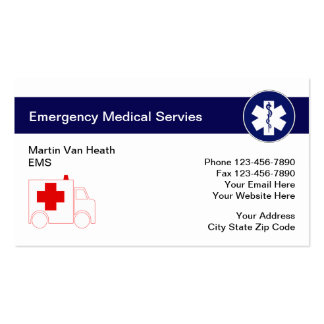 Medical Emergency Business Cards