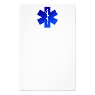 Medical EMS Symbol Personalized Stationery