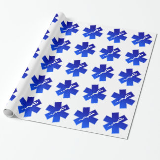 Medical EMS Symbol Wrapping Paper
