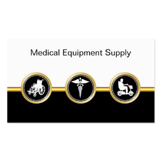 Medical Equipment Distributor Business Cards
