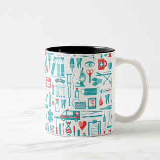 Medical Equipment in Teal and Red Two-Tone Coffee Mug