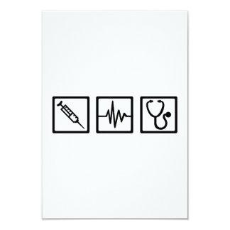 Medical equipment stethoscope syringe announcement