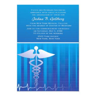 """Medical Graph Invitation 5"""" X 7"""" Invitation Card"""