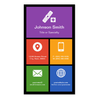 Medical Health Care - Colorful Tiles Creative Pack Of Standard Business Cards