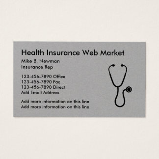 Medical Insurance Classy Design Business Card