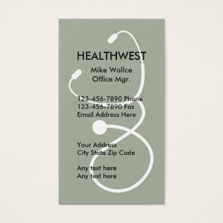 Medical Insurance Theme Business Card