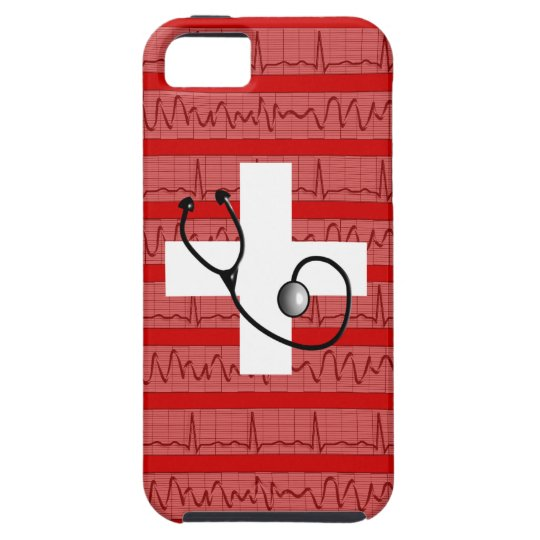 Medical iPhone 5 Case Cardiac Rhythm Strips Design