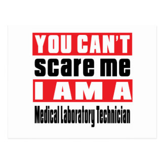 Medical Laboratory Technician scare designs Postcard