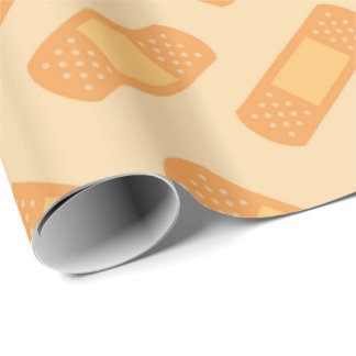 Medical nurse bandage pattern wrapping paper