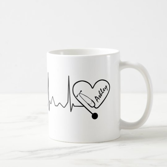 Medical Nurse Doctor Stethoscope Personalised Coffee Mug