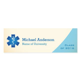 Medical Nurse Student Graduation Name Insert Card Pack Of Skinny Business Cards