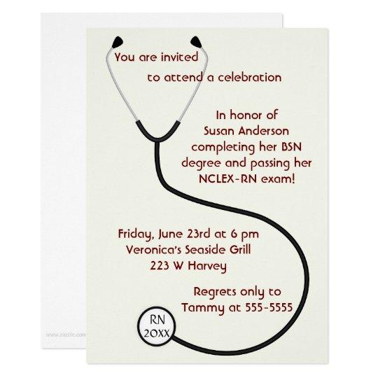 Medical or Nursing Degree Graduation Invitation