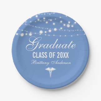 Medical or Nursing School Graduation Party 7 Inch Paper Plate